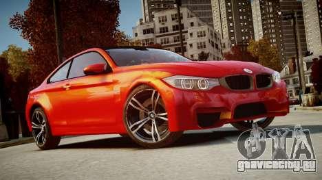 BMW M4 Coupe 2014 v1.0 для GTA 4 вид сзади