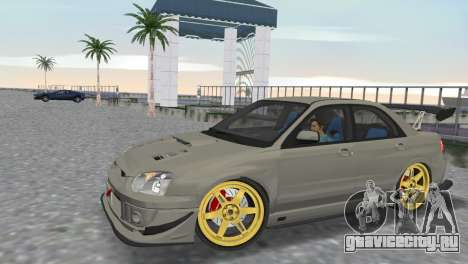 Subaru Impreza WRX STI 2005 для GTA Vice City вид справа