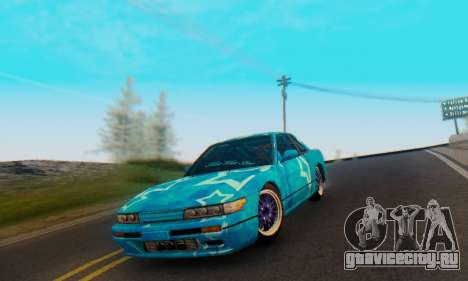 Nissan Silvia S13 Blue Star для GTA San Andreas вид сбоку