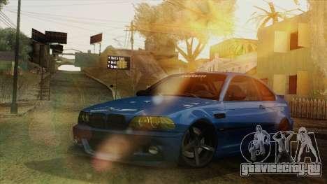 BMW M3 E46 STANCE для GTA San Andreas вид изнутри