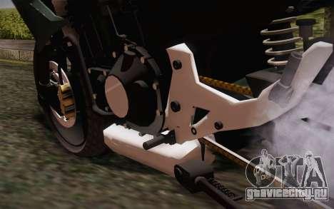 Yamaha FZ6 для GTA San Andreas вид сзади