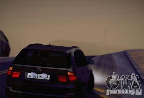 BMW X5M 2013 для GTA San Andreas вид сзади