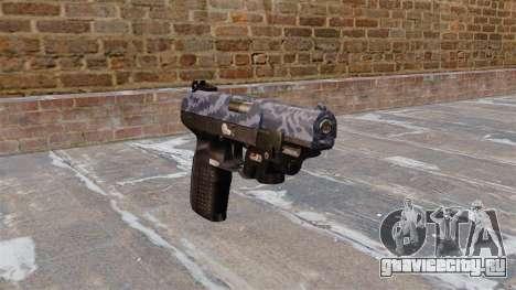 Пистолет FN Five-seveN LAM Blue Camo для GTA 4
