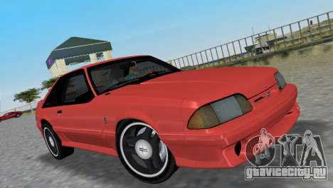 Ford Mustang Cobra 1993 для GTA Vice City вид сзади