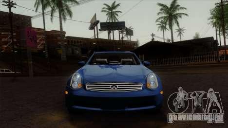 Infiniti G35 Coupe (V35) 2003 для GTA San Andreas вид сзади