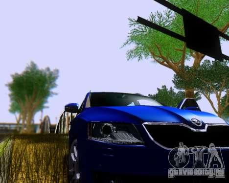 Škoda Octavia A7 Combi для GTA San Andreas вид сзади слева