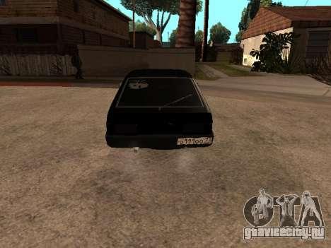 ВАЗ 2109 Бандитская девятка V 1.0 для GTA San Andreas вид сзади