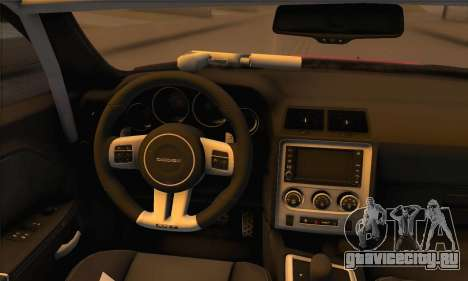 Dodge Challenger SRT8 2012 для GTA San Andreas вид сзади