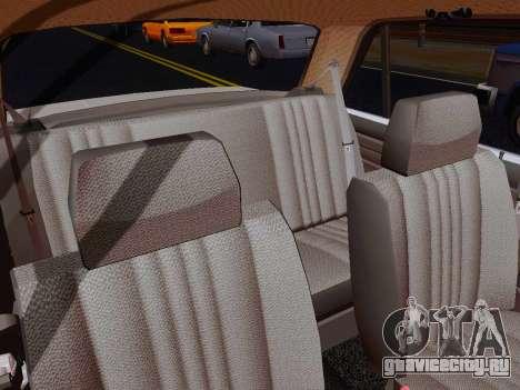 ВАЗ 2105 Riva для GTA San Andreas вид изнутри