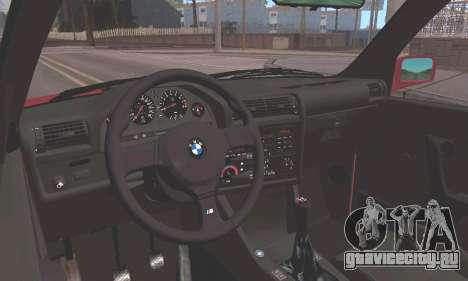 BMW E30 M3 1991 для GTA San Andreas вид сзади