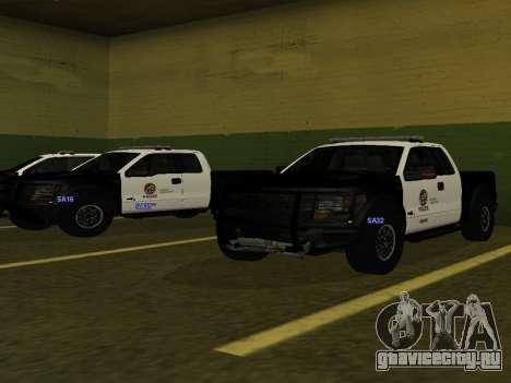 LAPD Ford F-150 Raptor для GTA San Andreas вид сзади слева