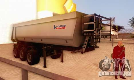 Schmied Bigcargo Solid Stock для GTA San Andreas вид сзади слева