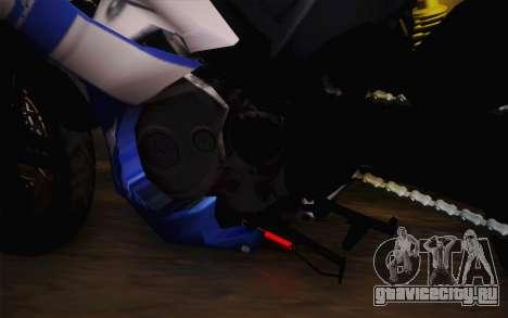 Yamaha YZF R15 для GTA San Andreas вид сзади