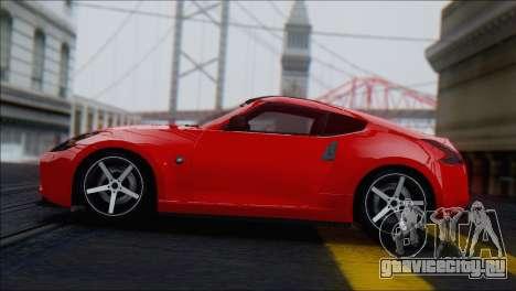 Nissan 370Z Vossen для GTA San Andreas вид сзади