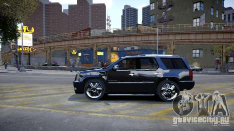 Cadillac Escalade для GTA 4 вид сзади слева