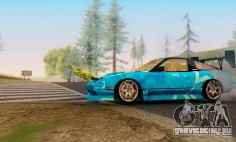 Nissan 240SX Blue Star для GTA San Andreas вид сзади слева