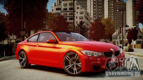 BMW M4 Coupe 2014 v1.0 для GTA 4 вид сзади слева