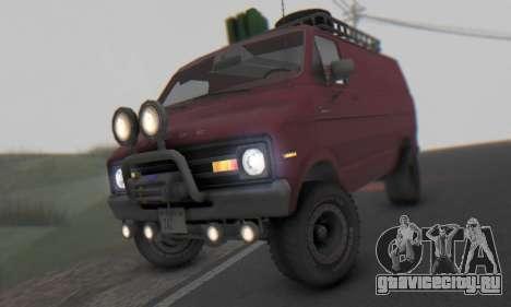 Dodge Tradesman Van 1976 для GTA San Andreas вид слева