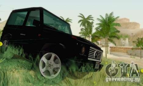 Mercedes-Benz G500 1999 Short для GTA San Andreas вид изнутри