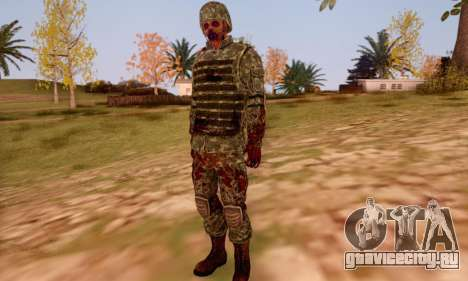 Zombie Soldier для GTA San Andreas шестой скриншот