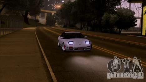 Nissan 240sx Low для GTA San Andreas вид сзади слева