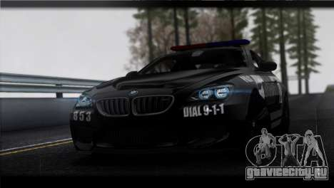 BMW M6 Coupe Redview Police для GTA San Andreas