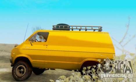 Dodge Tradesman Van 1976 для GTA San Andreas вид сзади