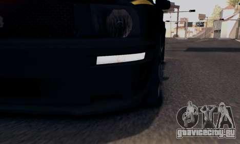 Ford Mustang Shelby Terlingua 2008 NFS Edition для GTA San Andreas вид снизу