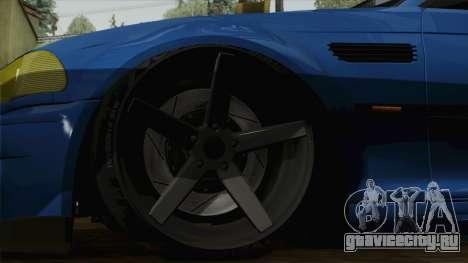 BMW M3 E46 STANCE для GTA San Andreas вид сзади слева