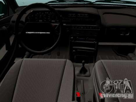 ВАЗ-21099 для GTA San Andreas вид сзади слева
