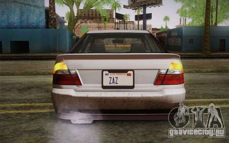 Sultan из GTA 5 для GTA San Andreas вид сзади
