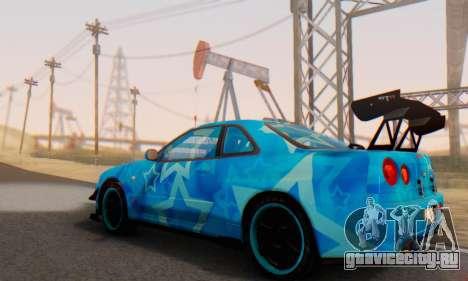 Nissan Skyline GTR 34 Blue Star для GTA San Andreas вид снизу