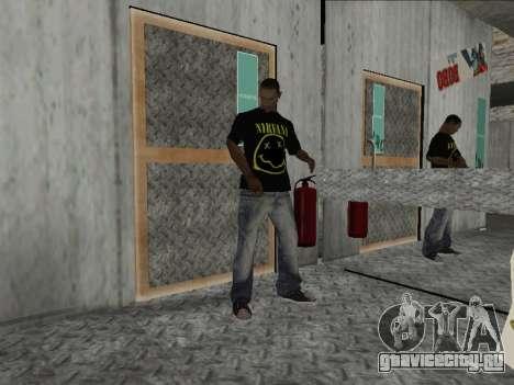 Новая Майка Nirvana and Kurt Cobain для GTA San Andreas второй скриншот