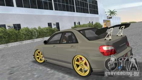 Subaru Impreza WRX STI 2005 для GTA Vice City вид слева