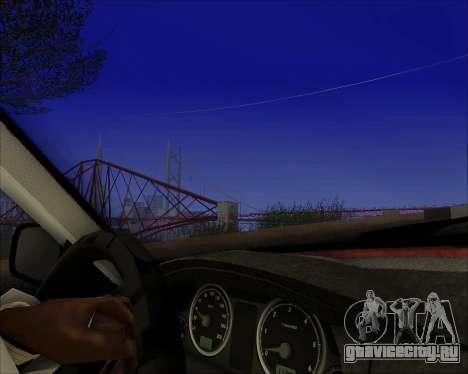 ГАЗ 31105 Tuneable для GTA San Andreas вид изнутри