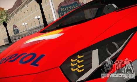 Lamborghini Aventador LP700-4 для GTA San Andreas вид изнутри
