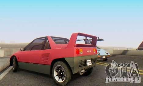 Mazda Autozam AZ-1 для GTA San Andreas вид изнутри