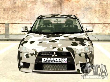 Mitsubishi Lancer Evolution X для GTA San Andreas колёса