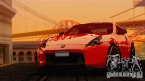 Nissan 370Z Vossen для GTA San Andreas вид сзади слева