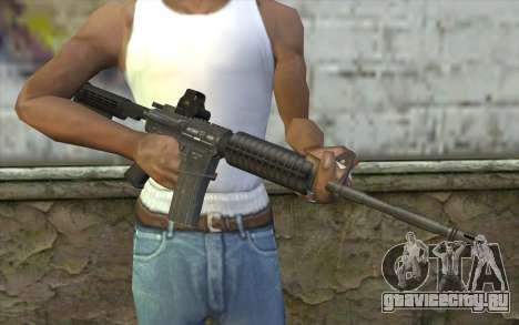 M4A1 Holosight для GTA San Andreas третий скриншот