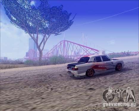ГАЗ 31105 Tuneable для GTA San Andreas вид сзади