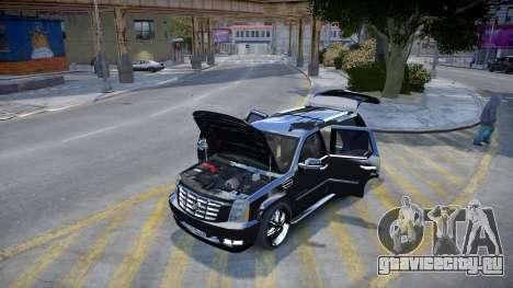 Cadillac Escalade для GTA 4 вид сзади