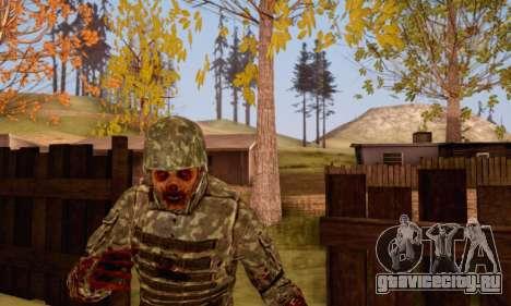 Zombie Soldier для GTA San Andreas пятый скриншот