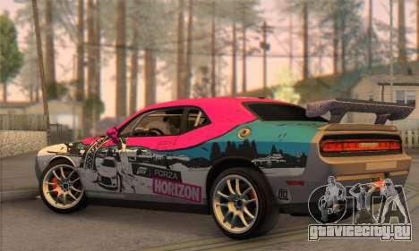Dodge Challenger SRT8 2012 для GTA San Andreas вид слева