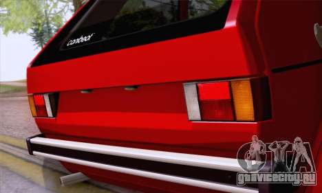 Volkswagen Golf Mk I 1978 для GTA San Andreas вид изнутри