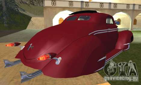 Lincoln Zephyr 1946 для GTA San Andreas вид изнутри