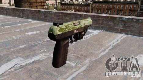 Пистолет FN Five-seveN LAM Green Camo для GTA 4 второй скриншот