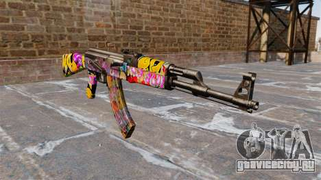 Автомат АК-47 Graffitti для GTA 4