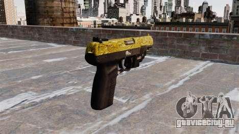 Пистолет FN Five-seveN LAM Gold для GTA 4 второй скриншот