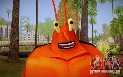 Лари Лобстер (Губка Боб) для GTA San Andreas третий скриншот